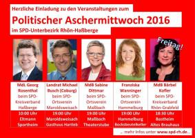 Alle Veranstaltungen im UB Rhön-Haßberge auf einen Blick