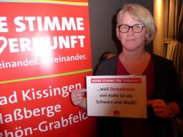 Karoline Karg erhebt ihre Stimme der Vernunft