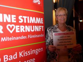 MdB a.D. Susanne Kastner erhebt ihre Stimme der Vernunft