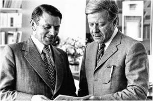 Heiner Schneier und Helmut Schmidt