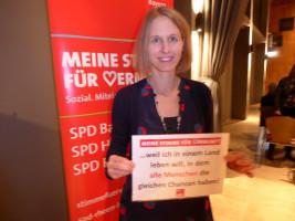 Maren Schmitt erhebt ihre Stimme der Vernunft