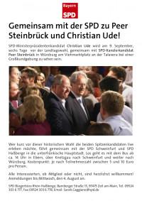 Gemeinsam mit der SPD zu Peer Steinbrück und Christian Ude!
